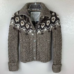 Abercrombie & Fitch Fair Isle Sweater Cardigan